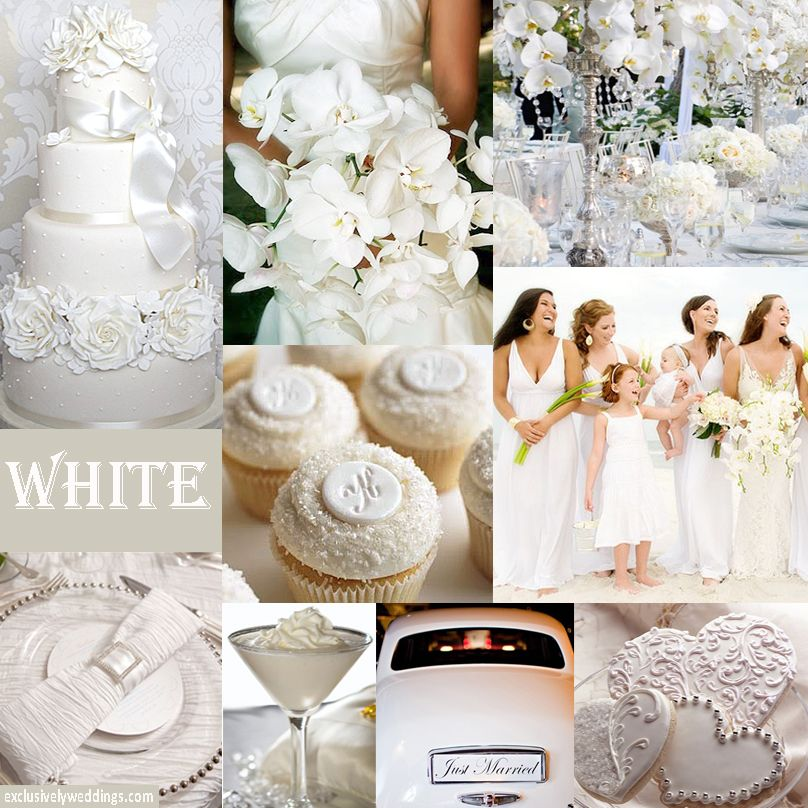 All-white works well in winter but works for other seasons, too! #exclusivelyweddings