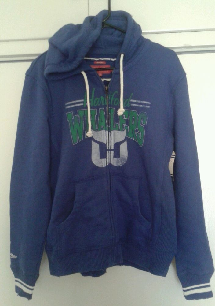Mitchell and Ness NHL Vintage Hockey Hartford Whalers Blue Women s Hoodie -  SOLD 2edee3cbe