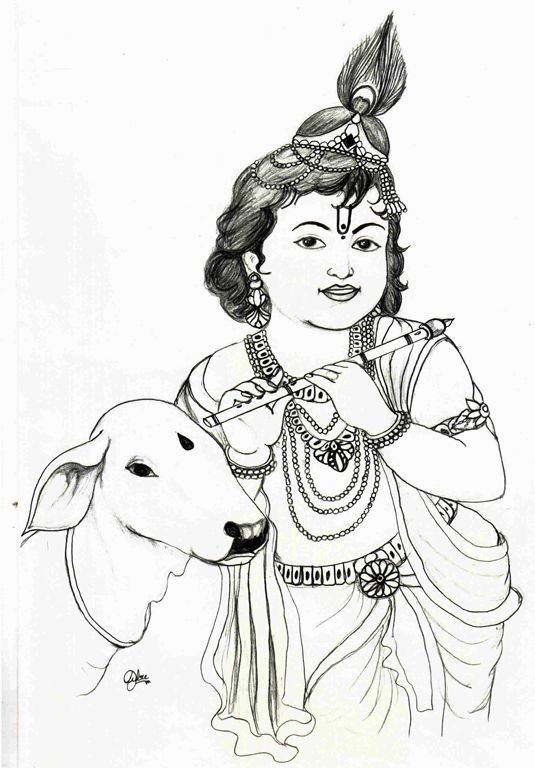 Lord Krishna | Sketches | Pinterest | Lord Krishna Krishna And Sketch Painting