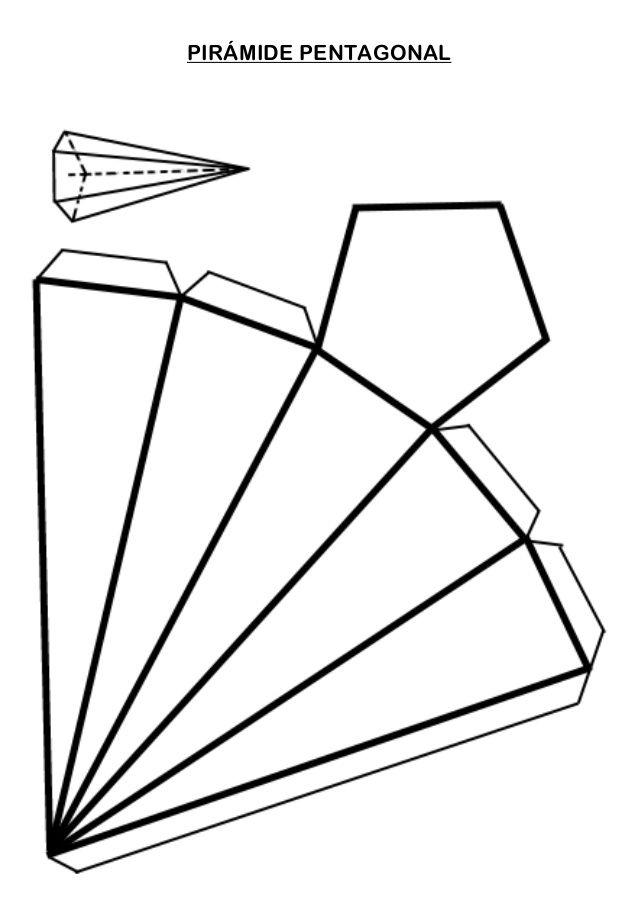 Pirámide Pentagonal Origami Paper Art Paper Crafts Diy Origami Art