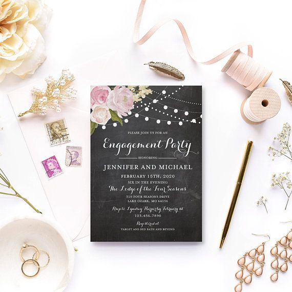 engagement party invitation template diy engagement invitation cheap