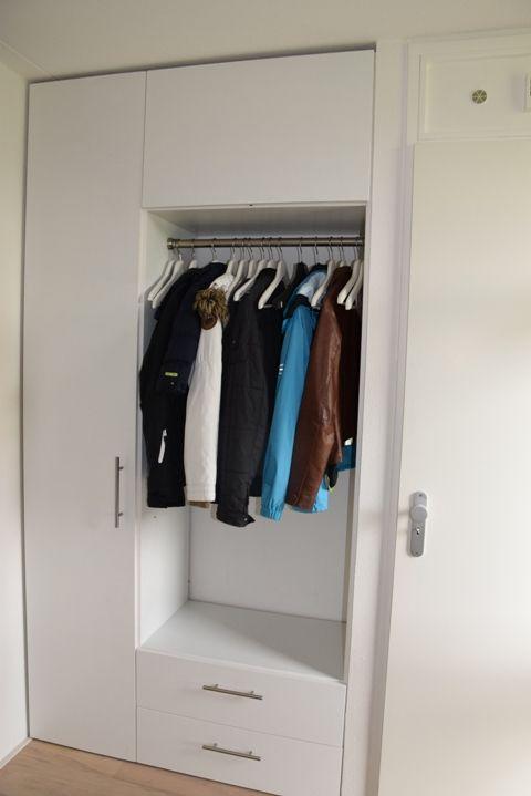 Garderobekast hal pinterest kapstok hout en interieur - Hal entreehal ...