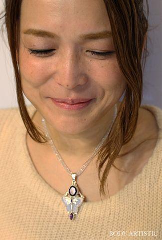 40cm・水晶ネックレス
