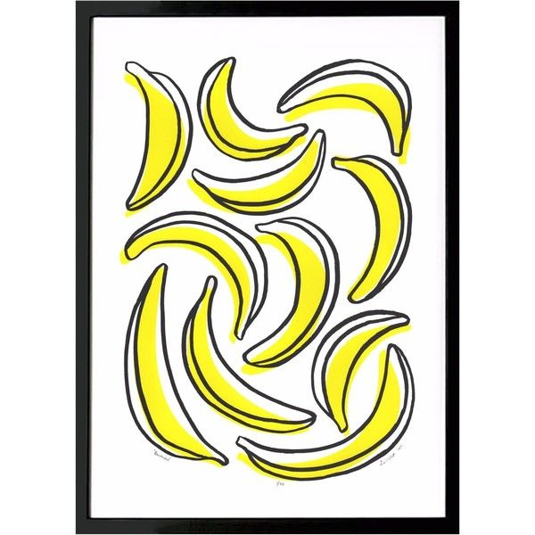 Lu West - Bananas Screen Print ($77) ❤ liked on Polyvore featuring ...