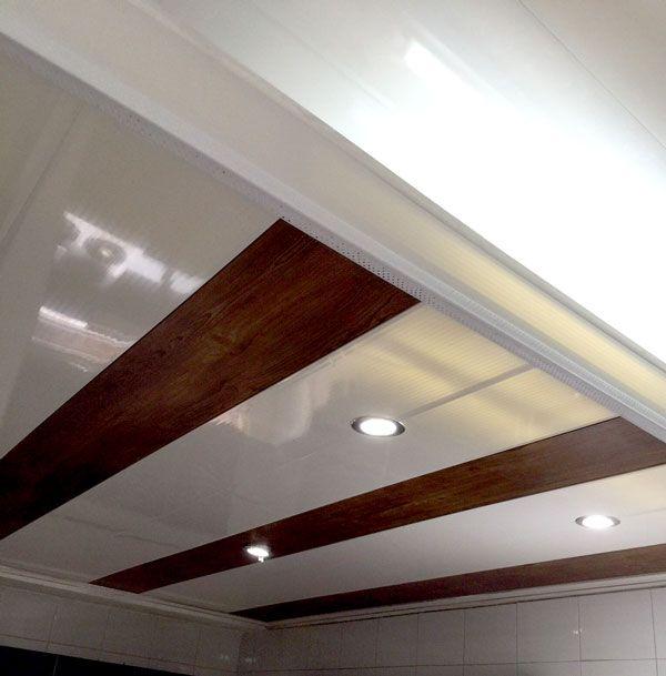 Cielo raso pvc cielos y paredes pvc pinterest free for Modelos de cielo raso para salas