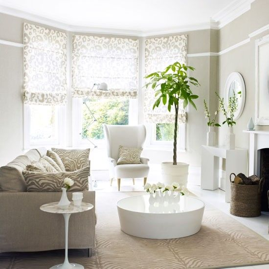 Awesome Curtain Ideas For Bay Window Living Room Eclectic: Grey Living Room Furniture