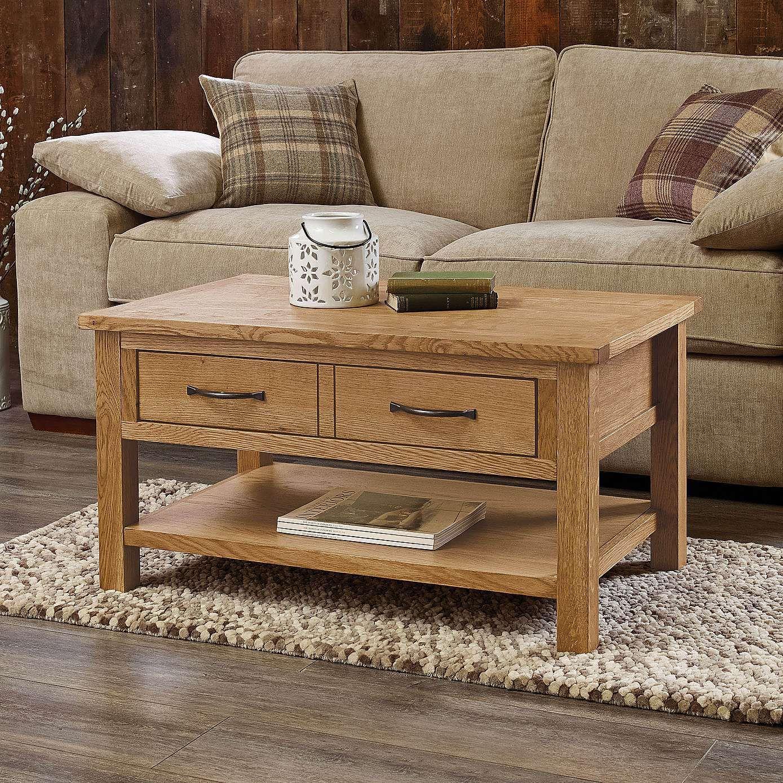 Sidmouth Oak 1 Drawer Coffee Table Kendin Yap Mobilya Mobilya [ 1389 x 1389 Pixel ]