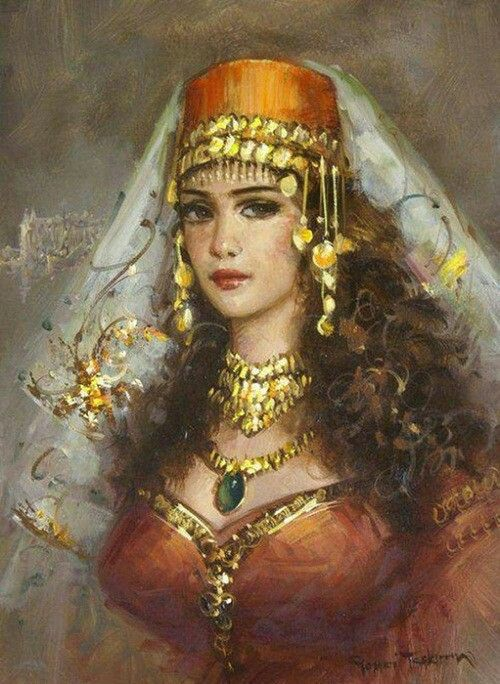 Turkish beauty in Paintings of Remzi Taşkıran  Prominent