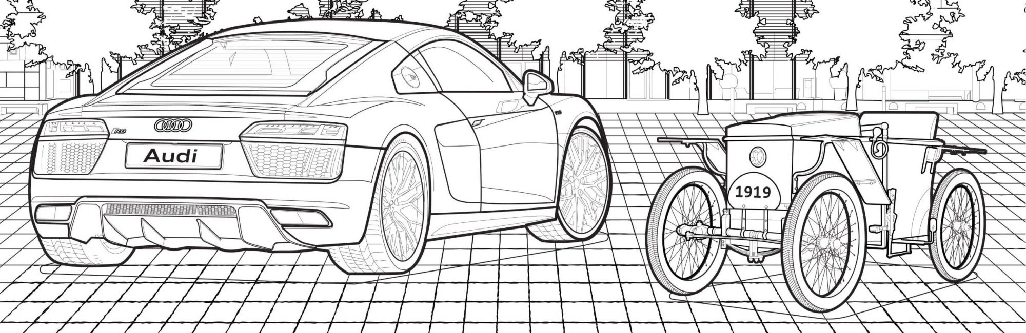 Audi Coloring Book   Used luxury cars, Audi, Coloring books