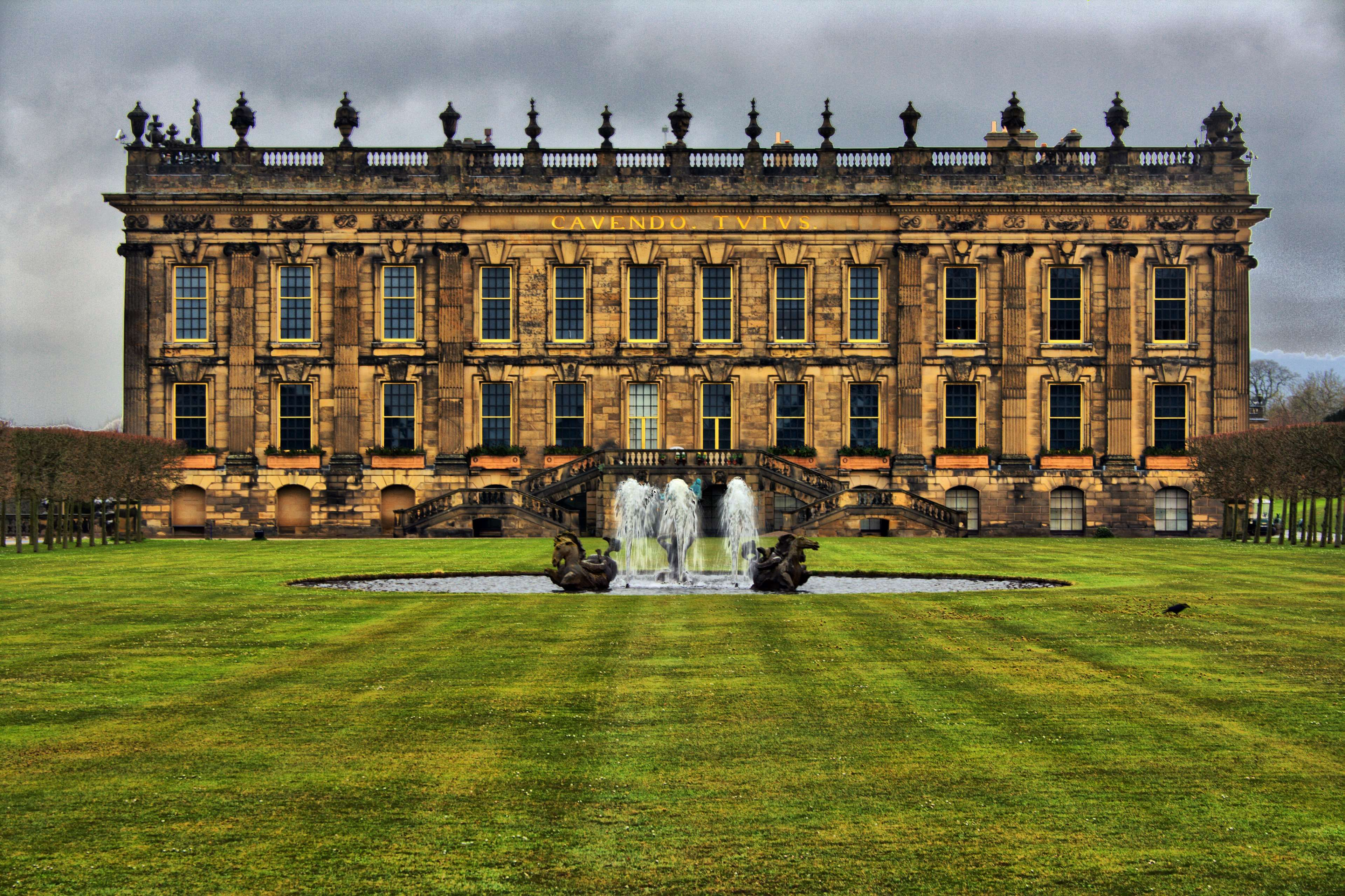 chatsworth house #fountain #grass lawn | wallpapers and backgronds ...