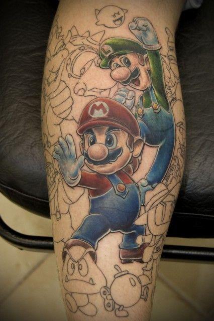 tatuajes mario bros marioart pinterest tattoo tatting and nintendo tattoo. Black Bedroom Furniture Sets. Home Design Ideas