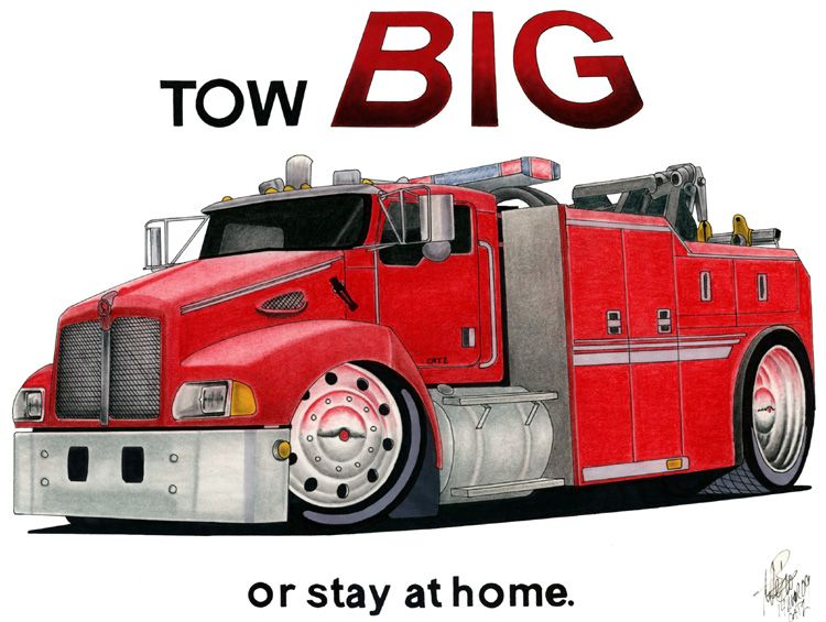 Kenworth Tow Trucks Clip Art Kenworth Tow Truck Cartoon By
