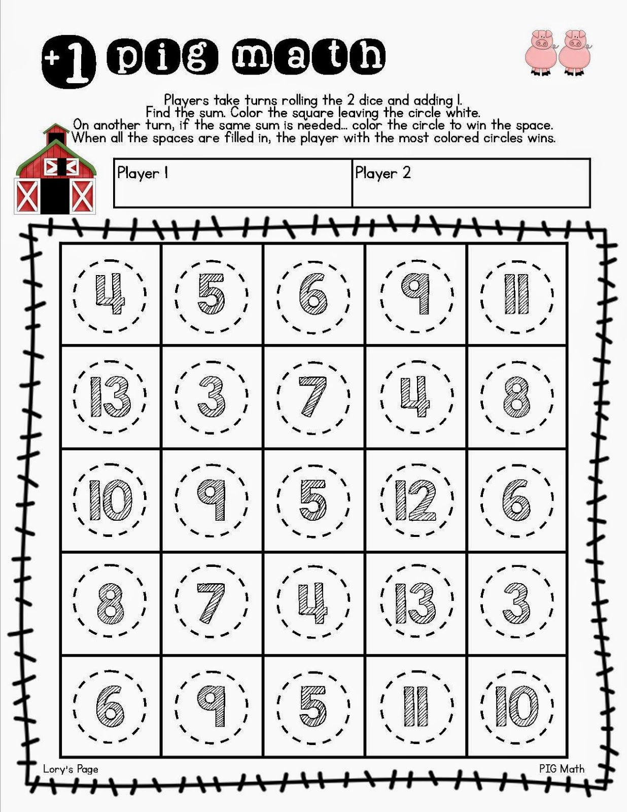 Quick Easy And Fun Printables To Go With Pig Math Help