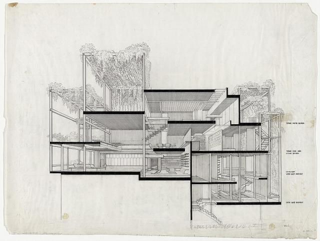 Hand drawn architecture section perspectives google for Cheap architectural drawings