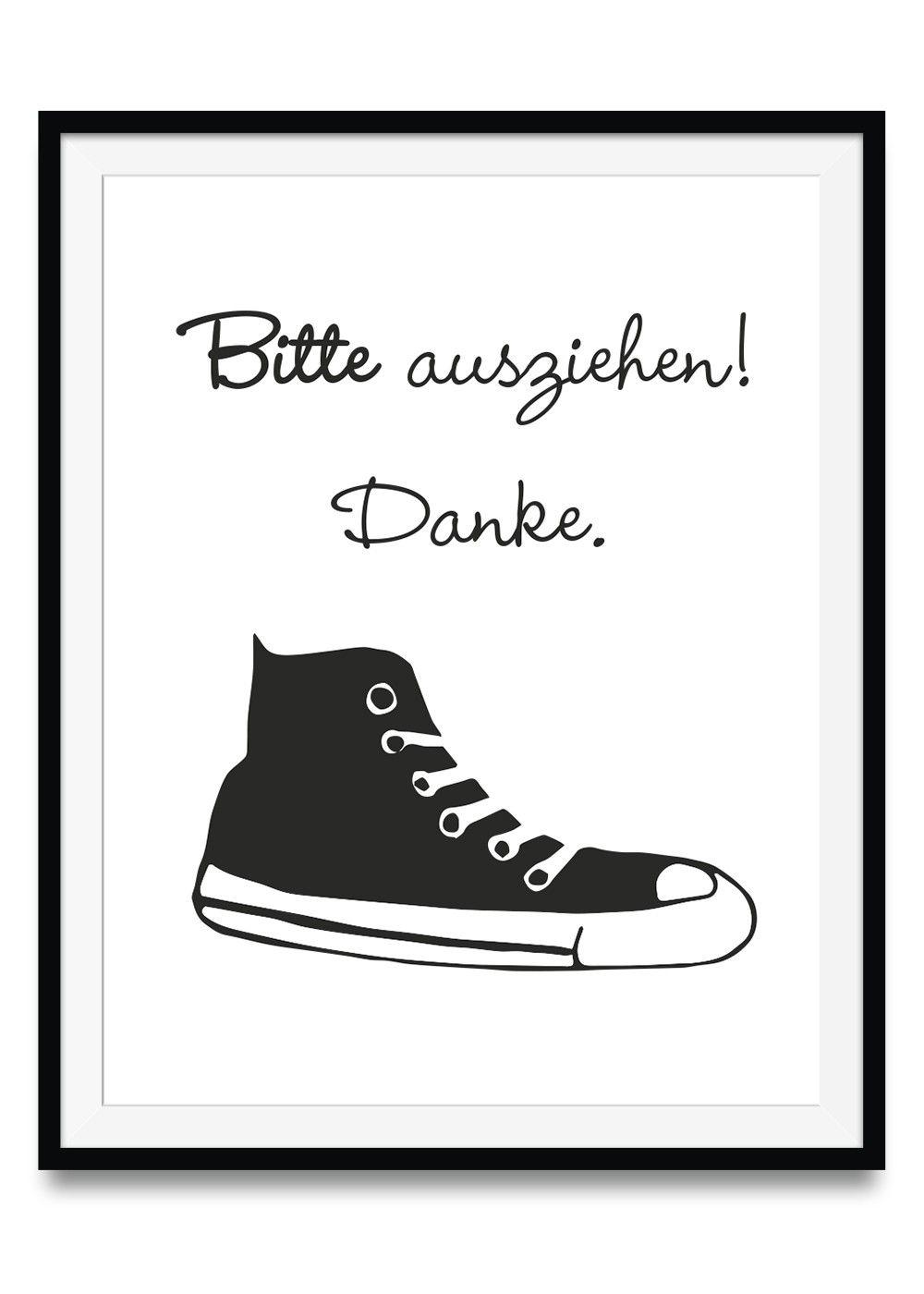 Bitte Schuhe Ausziehen bitte schuhe ausziehen 29 7 x 42 cm ulrike wathling dekoration