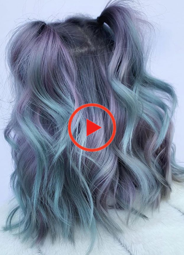 31 Perfect Purple Hair Color & Hairstyle Design Ideas - - #color #design #Hair #hairstyle #ideas #perfect #purple #hairstylescurly