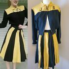 1930's 1940's Yellow Black Vintage Cheerleader Uniform Skirt Retro Pin-Up XS  #Vintage #cheerleaderuniform 1930's 1940's Yellow Black Vintage Cheerleader Uniform Skirt Retro Pin-Up XS  #Vintage #cheerleaderuniform 1930's 1940's Yellow Black Vintage Cheerleader Uniform Skirt Retro Pin-Up XS  #Vintage #cheerleaderuniform 1930's 1940's Yellow Black Vintage Cheerleader Uniform Skirt Retro Pin-Up XS  #Vintage #cheerleaderuniform