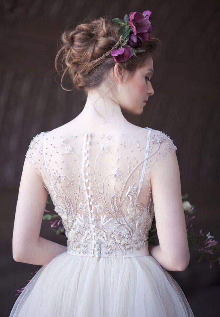 Textured ballerina bun Dress by R Schoenveld HMU Eden Di Bianco ...