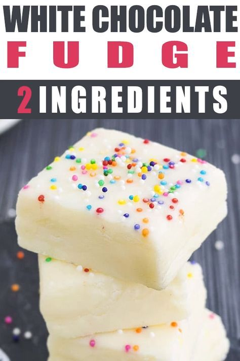 This easy, no bake, 2 ingredient WHITE CHOCOLATE FUDGE recipe requires only condensed milk and white chocolate. It's rich, fudgy, creamy and great as a dessert or homemade gift for the Christmas Holidays. Ad From
