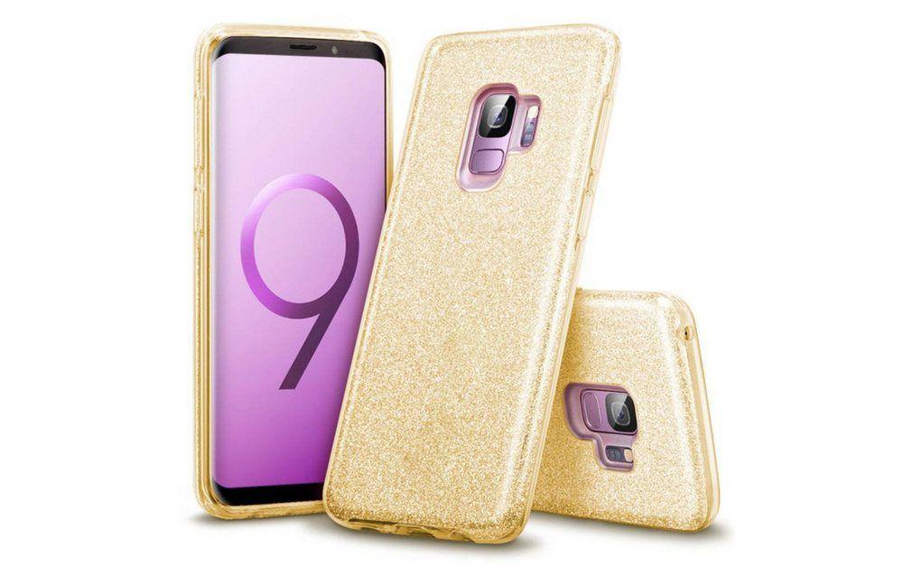 Finoo Smartphone-Hülle »3 in 1 Glitzer Handyhülle für das Samsung Galaxy S9 in Gold« Samsung Galaxy S9 online kaufen | OTTO