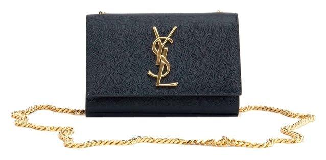 1450 Saint Laurent Ysl Monogram Chain Wallet Clutch Dark Navy Cross Body  Bag. Tradesy. f94f42a8325be