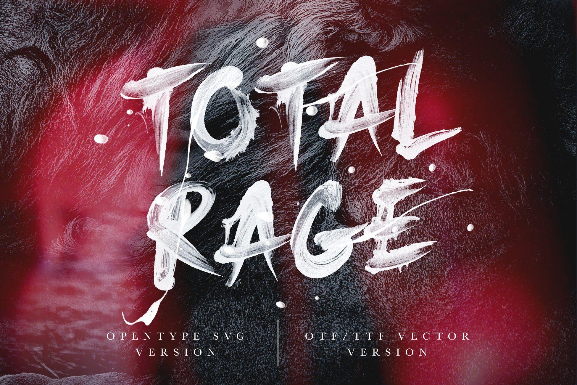 Total Rage Brush Svg Font Website Graphics Halloween Fonts