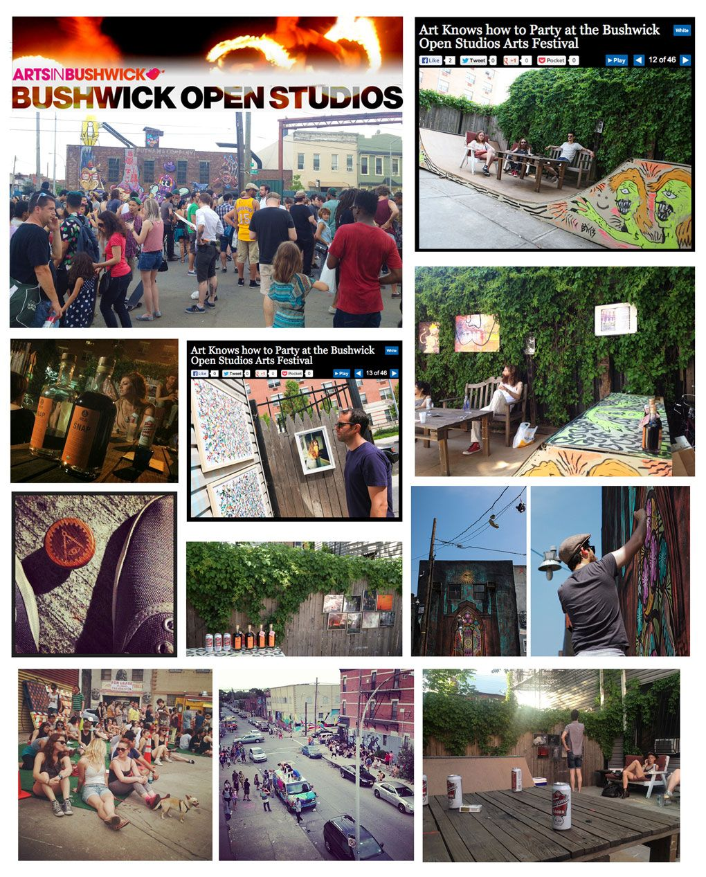 Pumped to have been involved in the Bushwick Open Studios 2013 in Brooklyn.