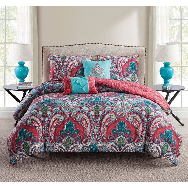 Kohlmeier 5 Piece Reversible Comforter Set Comforter Sets Duvet Sets Duvet Cover Sets