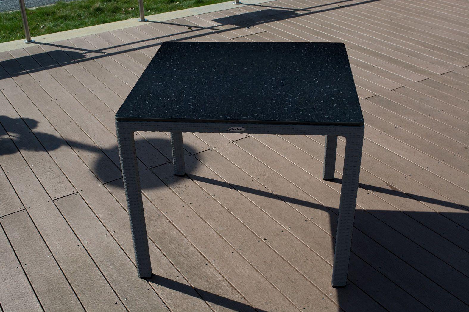 Lechuza Garten Esstisch Granit 90 X 90 Cm Hpl Tischplatte 10915