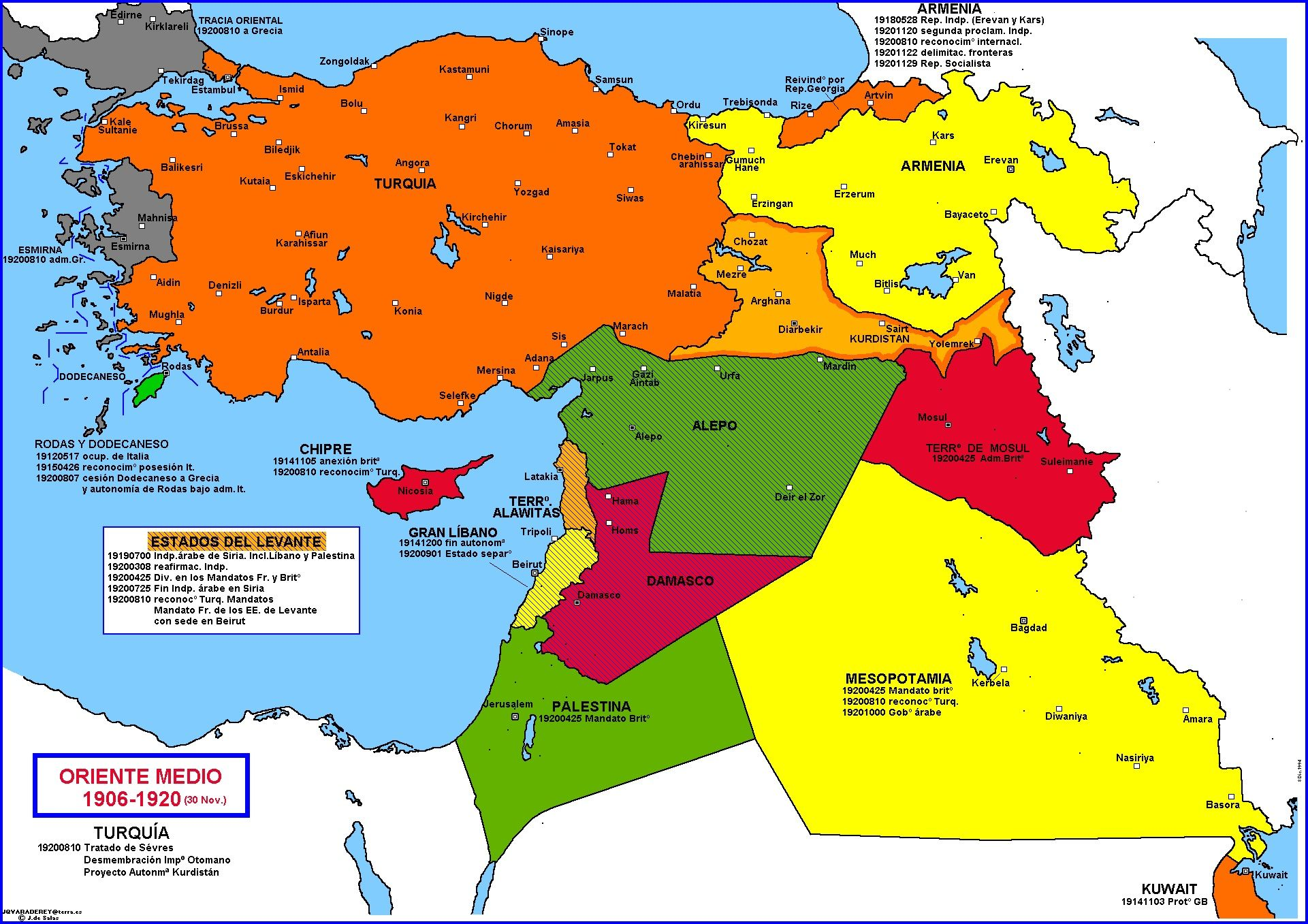 Carte MO 1920 History of the Middle East Pinterest Middle