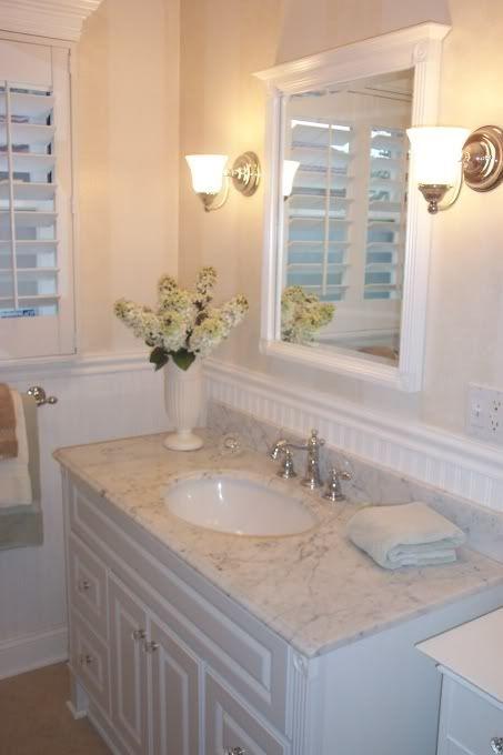 Bathroom W Beadboard For The Hall Bath Cover Tile With