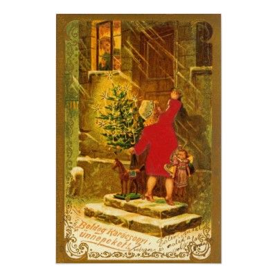 Hungarian christmas from 1896 poster christmas greetings holidays hungarian christmas from 1896 poster m4hsunfo