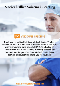 Medical office voicemail greeting medical voicemail greeting need to medical office voicemail greeting medical voicemail greeting need to be done professionally and with care luckily this service has a lot of experience when m4hsunfo