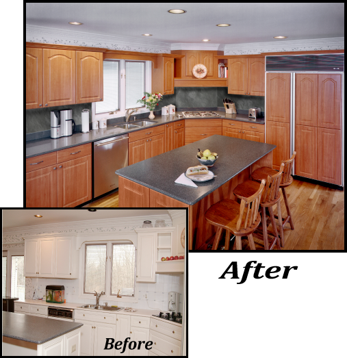 A Small Change With A Big Effect Www Kitchenmagic Com Kitchen Transformation Kitchen Remodel Before After Kitchen