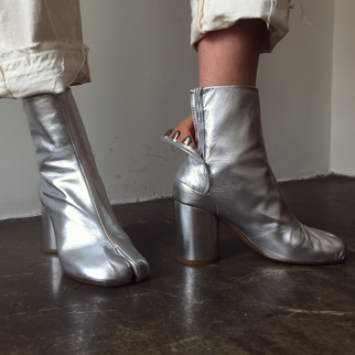 Silver Tabi Boots | Boots, Dress and