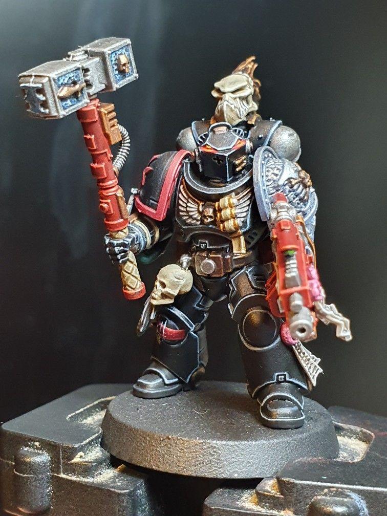 Deathwatch Kill Team Space Marine Black Templar Shoulder Pad Warhammer 40k