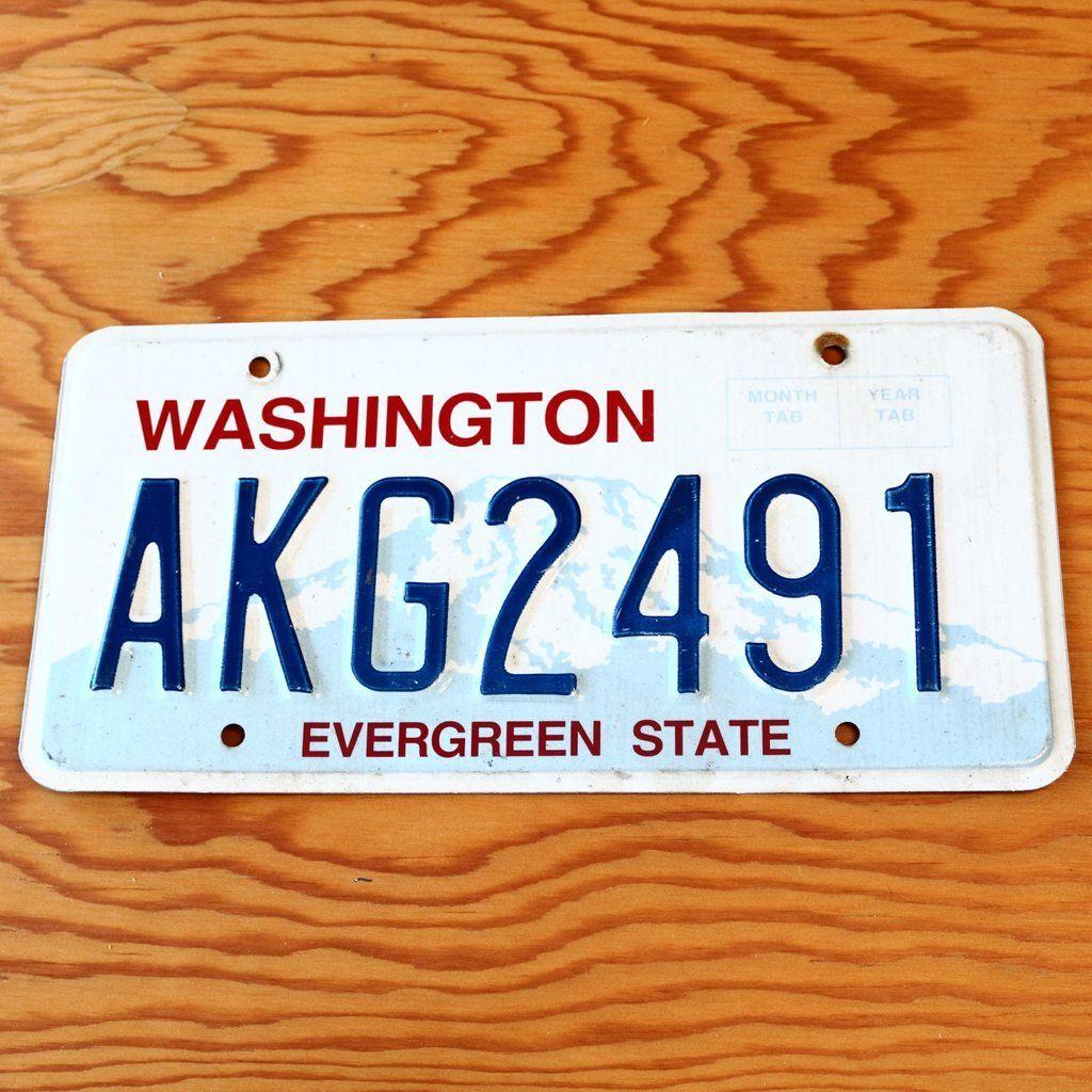 Washington Evergreen State License Plate AKG2491 in 2019