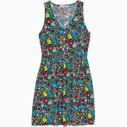 Calvin Klein sleeveless dress with a floral print L – Extra Sale Calvin Klein
