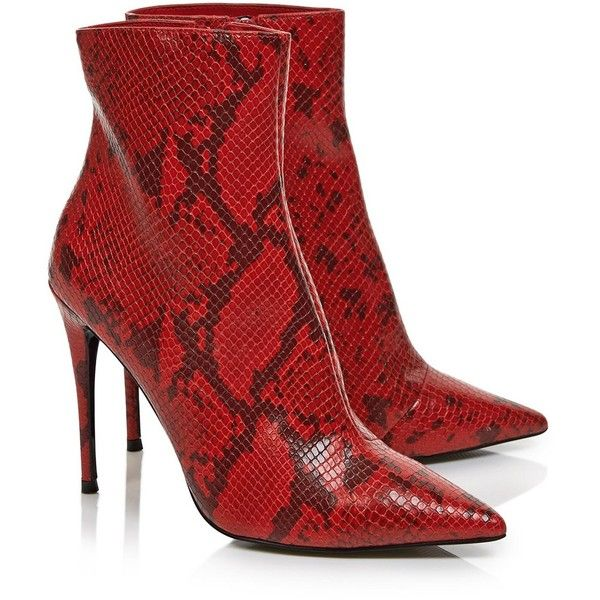 bc328a82fb40 Kurt Geiger London Ride Snake Print Ankle Boots- Red ( 260) ❤ liked ...