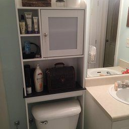 Sauder Caraway Etagere Bath Cabinet Soft White Finish With Images Bath Cabinets Sauder White Finish