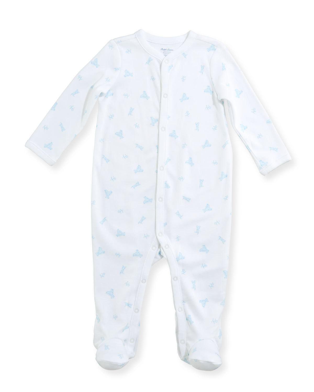 9869e01ec Ralph Lauren Childrenswear Teddy Bear Footie Pajamas, Size Newborn-9 Months