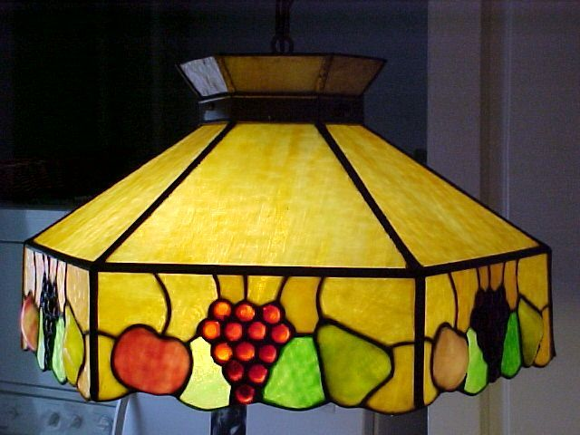 hanging lighting glass stained pendant for lamps lamp sale vintage shade
