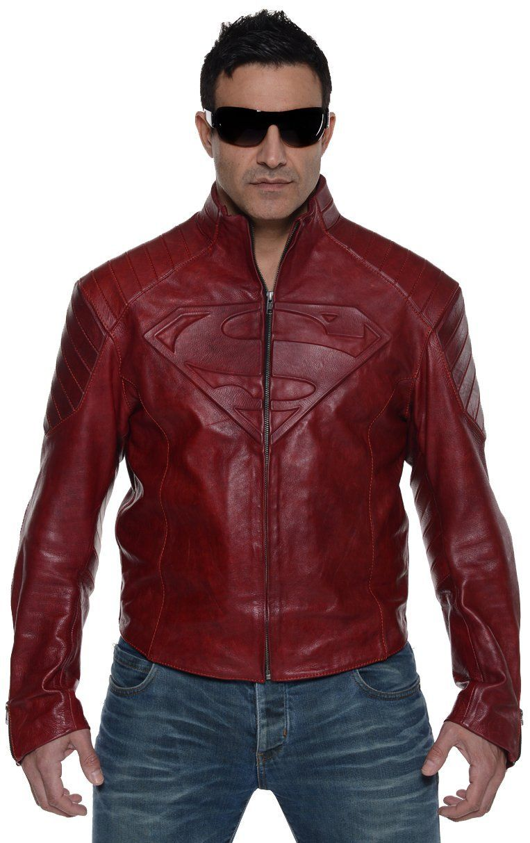 Superman Leather Street Jacket Street jacket, Jackets