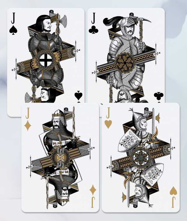 Bicycle® Hundred Years' War Playing Cards by SPAAAADE&Co. » #3, Here are our Jack cards! — Kickstarter