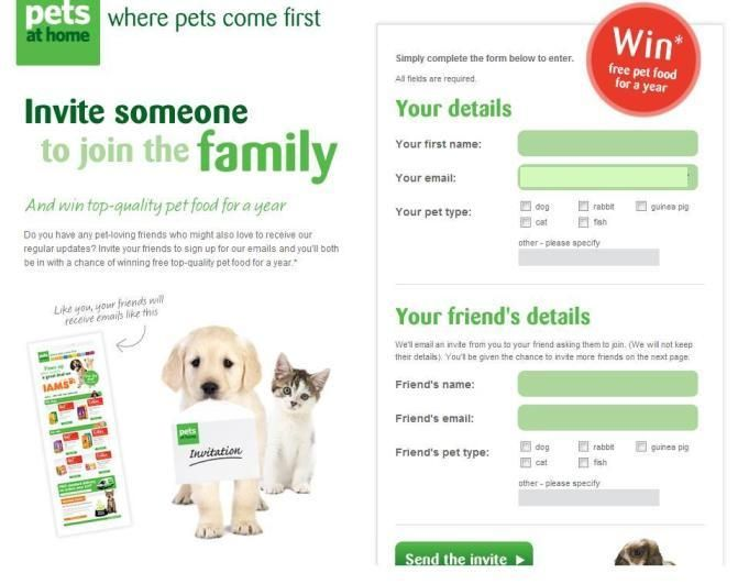 Old Pets At Home Refer A Friend Form Food Animals Your Pet Pets