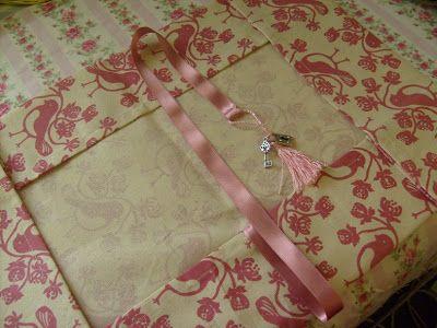 Jenny of ELEFANTZ: My very simple Tea Towel Challenge diary cover and tutorial!