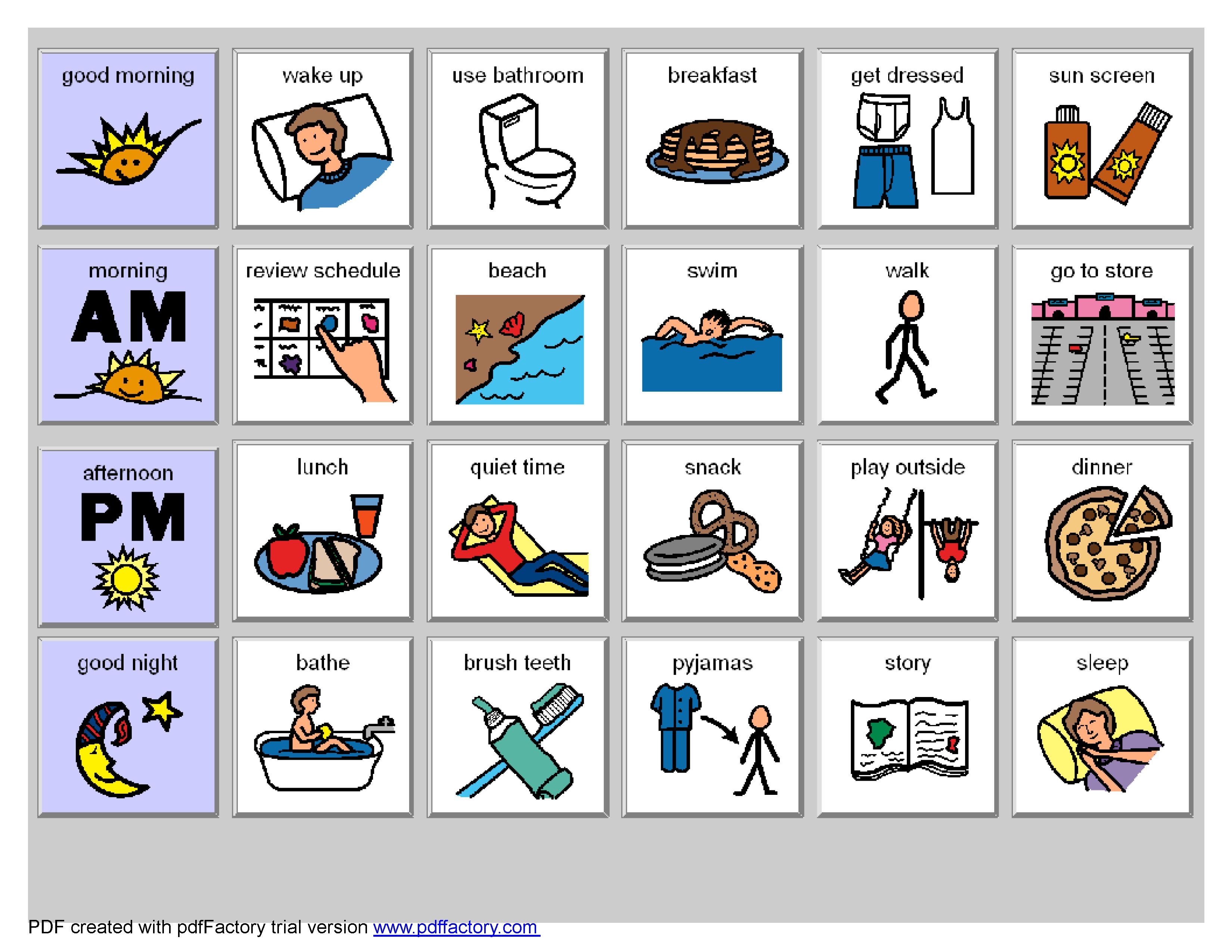 Autism Heading For The Beach Check Out These Visual Helpers Http