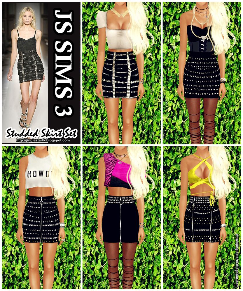 206 best images about sims 3 on pinterest dots sims 4 and warm - Js Sims 3 Js Sims 3 Studded Skirt Set