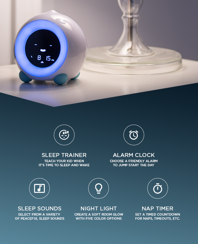 The Children S Alarm Clock Sleep Trainer Sound Machine Night Light And Nap Timer Designed For Parents Who Alarm Clock Childrens Alarm Clocks Sleep Training