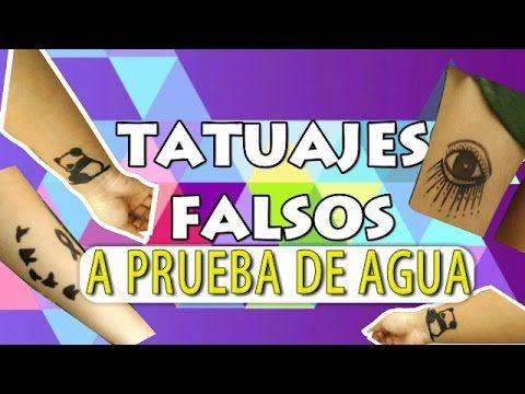 Diy Tatuajes Falsos A Prueba De Agua Vivi Abi Youtube Tatoo